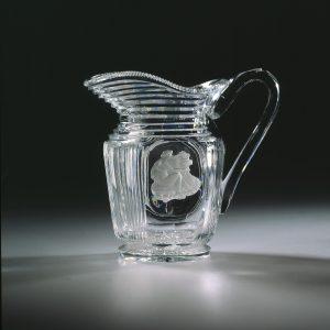 19th century British glass jug made by Apsley Pellatt & Co