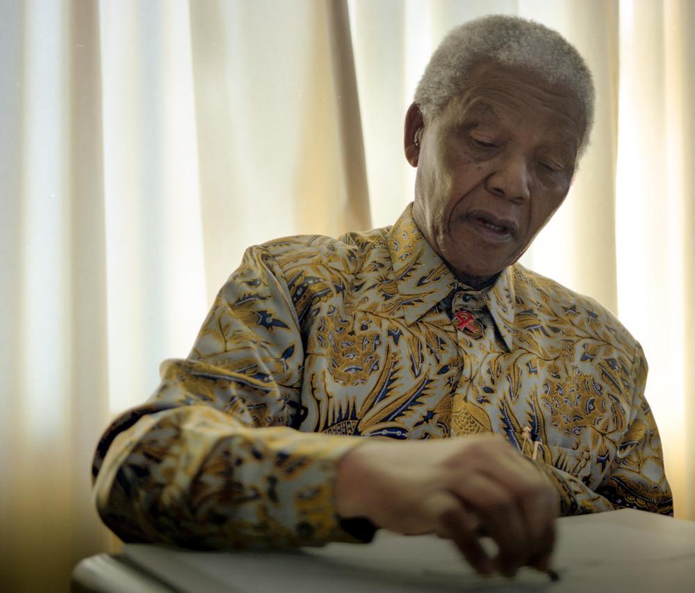 Nelson Mandela, Photo by Grant Warren