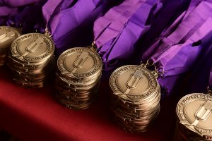 The Audie Award medals