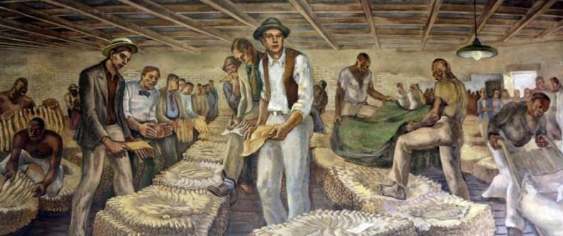 Post Office Art Louisburg Tobacco Auction