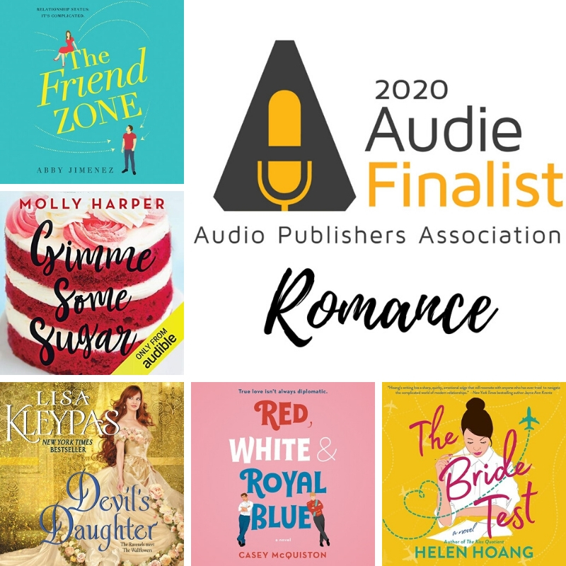 2020 Audie Award Romance Finalists