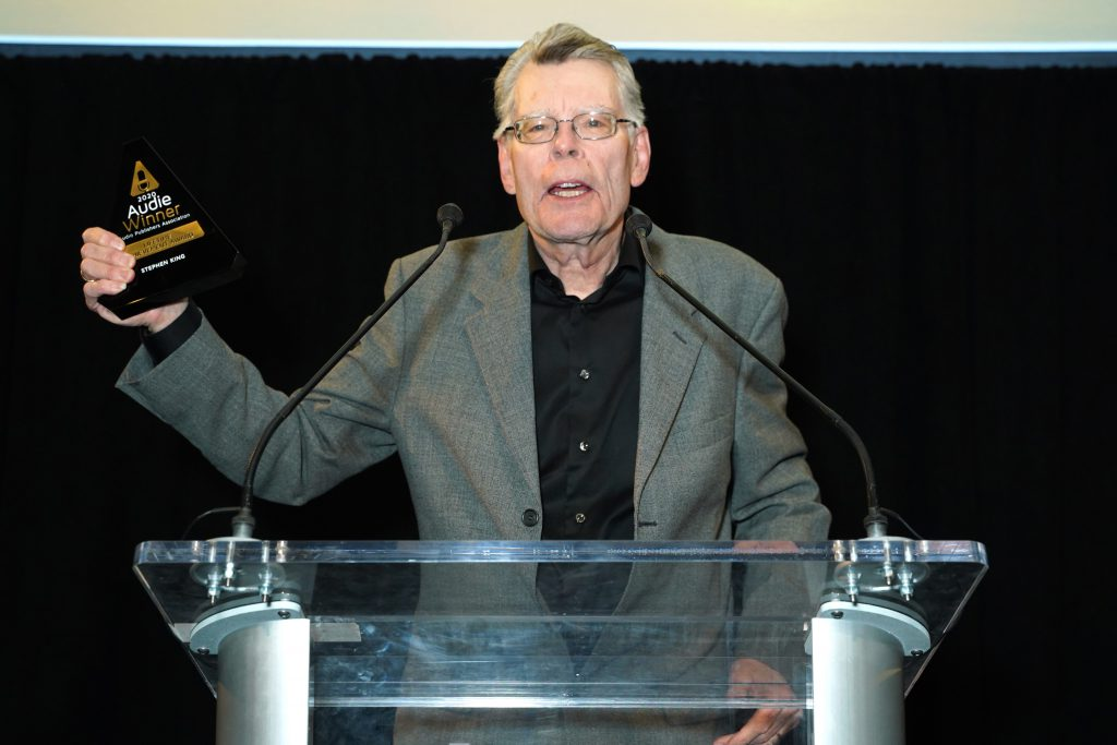 Stephen King receives the Lifetime Achievement Award at the 2020 Audies