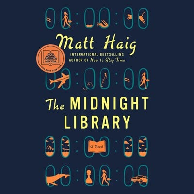 Audiobook cover: The Midnight Library by Matt Haig, narrated by Carey Mulligan