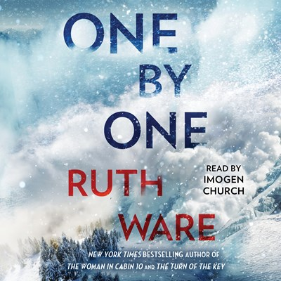 Audiobook cover: One By One by Ruth Ware, read by Imogen Church