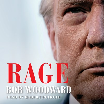 Audiobook cover: Rage by Bob Woodward, narrated by Robert Petkoff