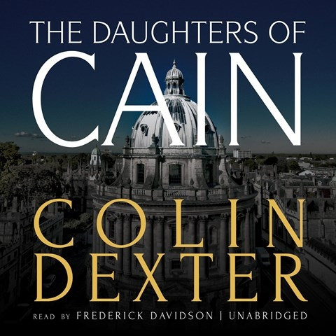 THE DAUGHTERS OF CAIN by Colin Dexter Read by Frederick Davidson ...